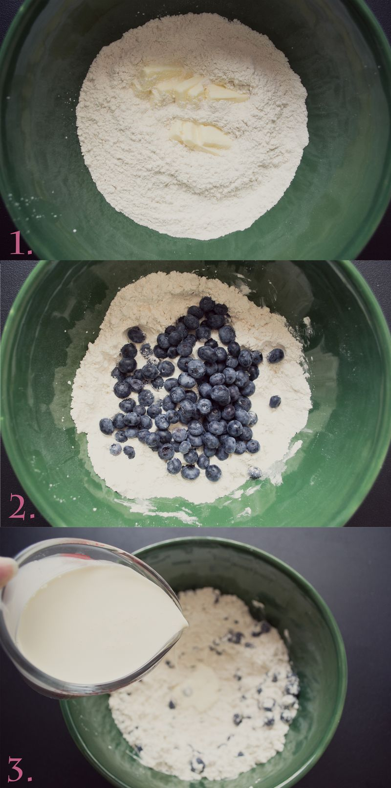 Blueberry Scone collage