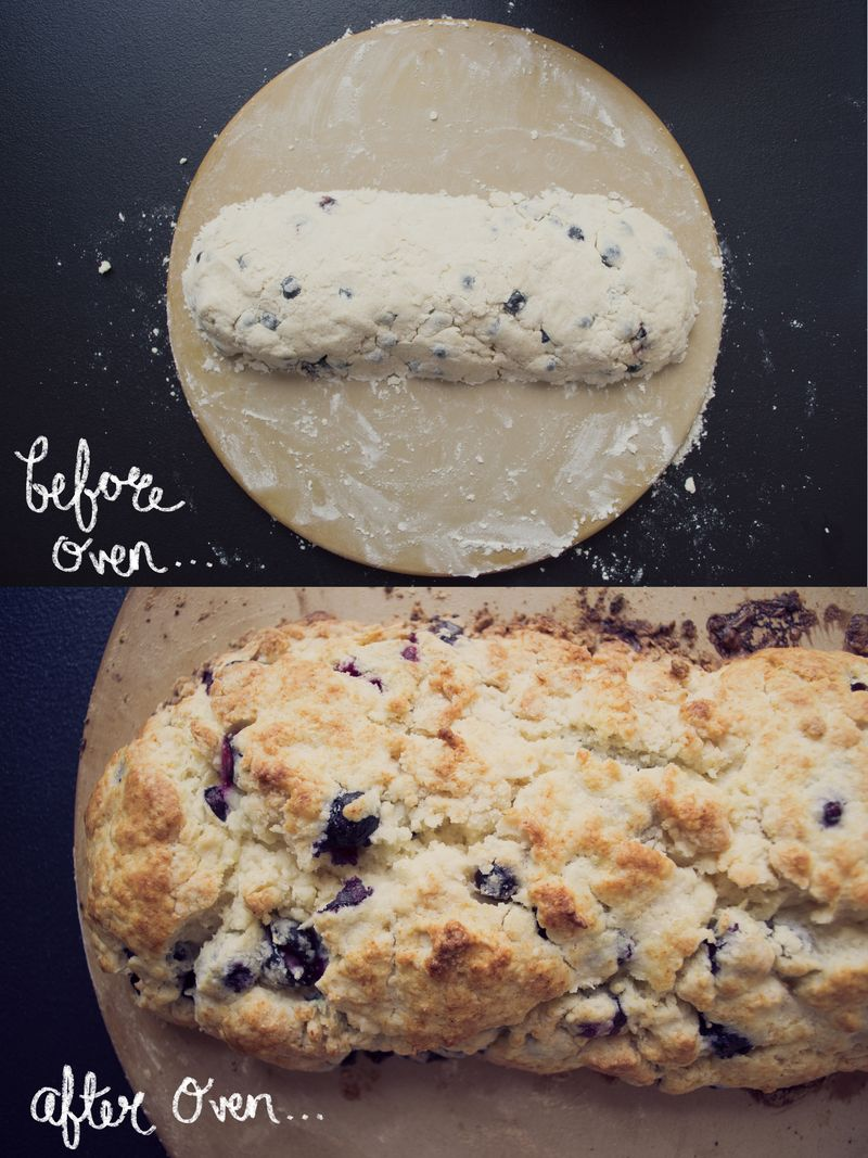 Blueberry scone collage2