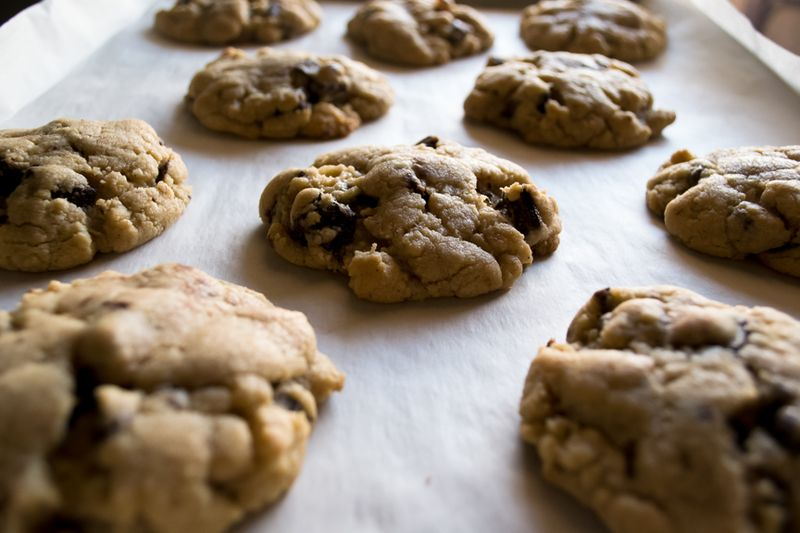 Chocolate bacon cookies